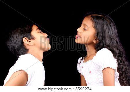 Fighting Indian Siblings