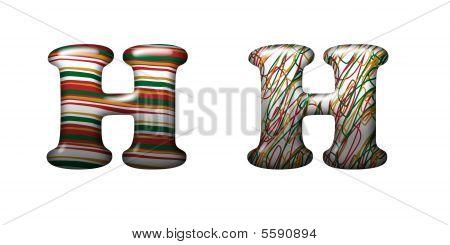 Collection Of Letter - Funny modern Stripes Design