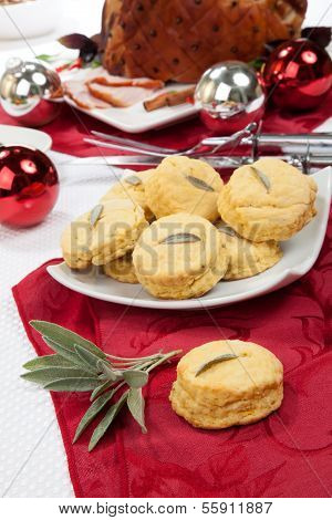 Sage Biscuits And Roasted Spiced Ham
