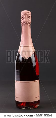 Bottle of pink champange.