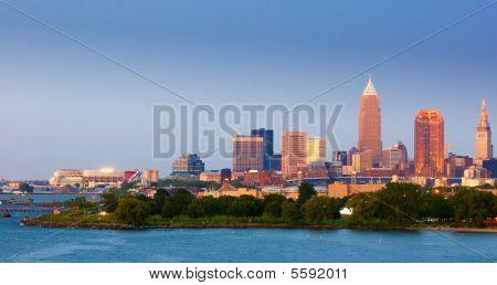 Cleveland Twilight Panorama