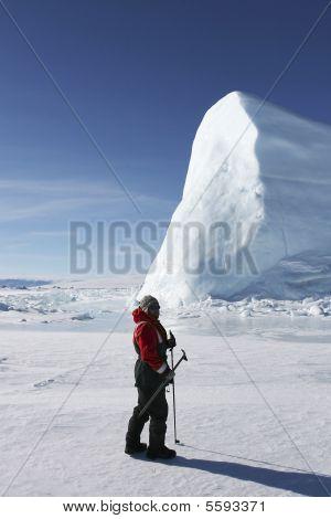Moutaineer On Antarctica