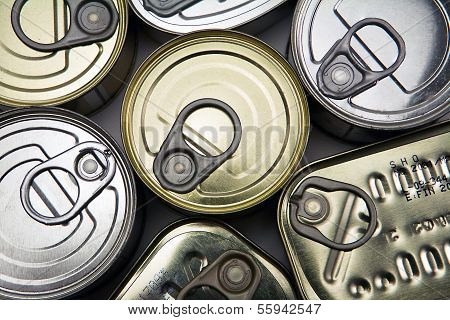 Tins of different sizes