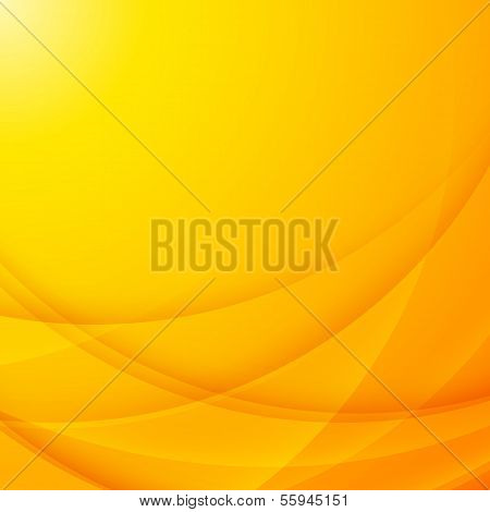 poster of Abstract vector shining yellow wavy business background
