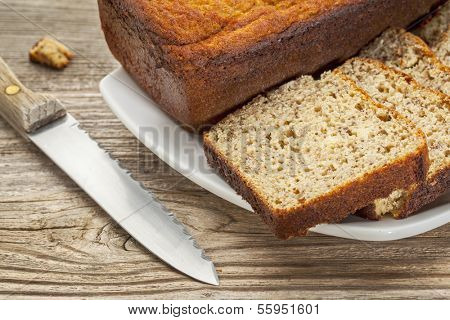 slices of freshly baked, gluten free bread made with almond and coconut flour and flaxseed meal