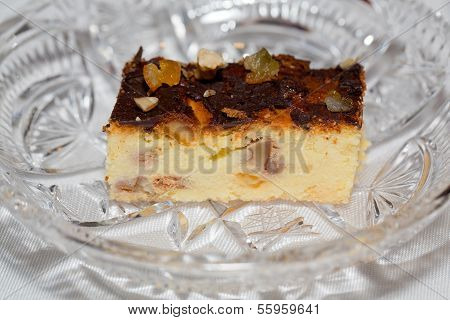 Close up of Cheesecake slice on a Plate