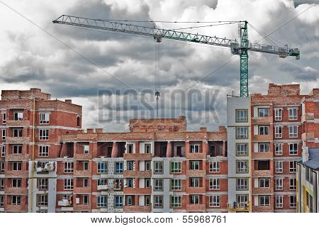 Building Construction And Nice Blue Sky