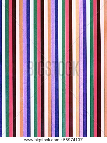 Multicolored striped pattern
