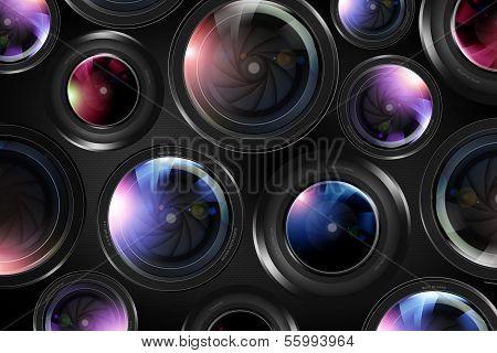 Camera Lenses Background