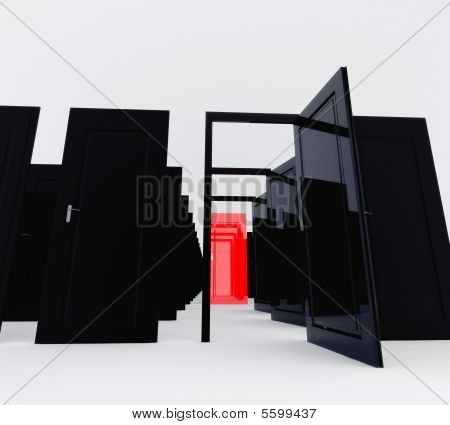 Only Red Door