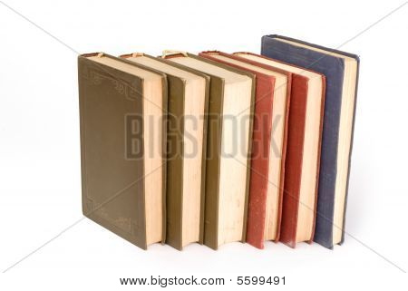 Old Books In A Row