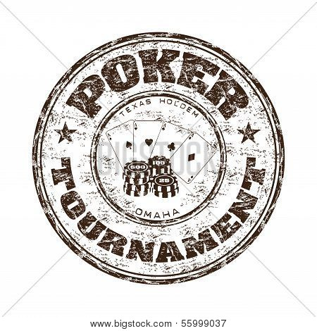 Poker tournament rubber stamp