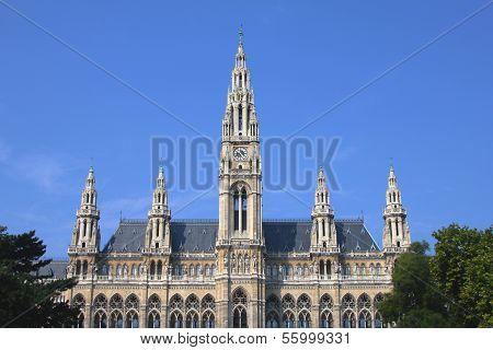 Rathaus(Town Hall) building in Vienna, Austria