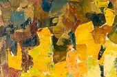 Abstract colorful background oil painting on canvas. poster