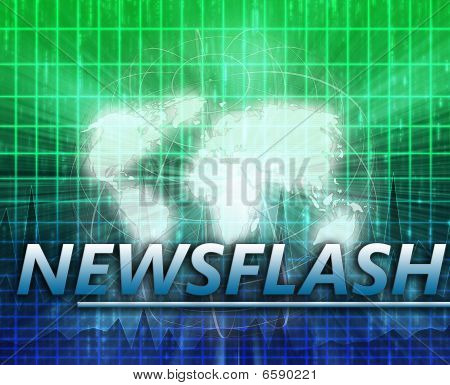 World Latest update news newsflash splash screen announcement illustration poster