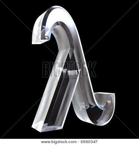 Lambda symbol in glass - 3d made poster