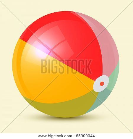 Colorful Retro Vector Beach Ball Illustration