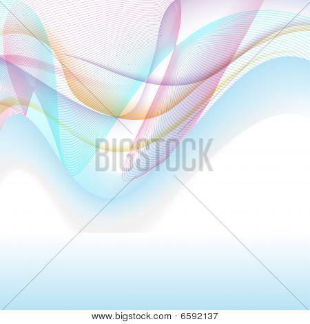Pastel Wave Background