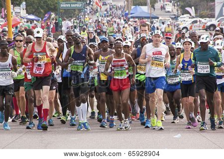 Crowd Of Runners Participating In Comrades Marathon