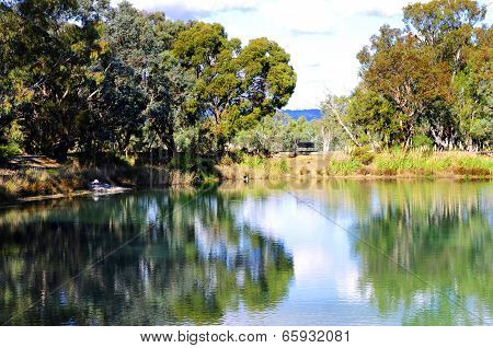 Barossa Valley, South Australia – May 29, 2014: The Large Duck Pond Located At Maggie Beer's Pheasan