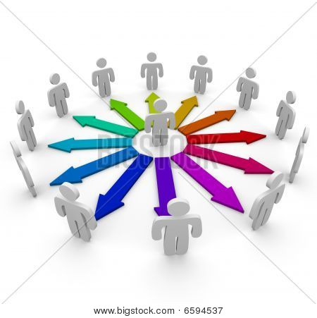 Verbindungen In einem Netzwerk von Menschen