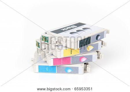 Cartridges for colour inkjet printer