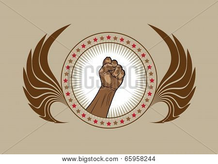Clenched Fist Symbol Or Emblem