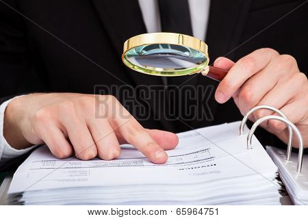 Businessman Analyzing Document