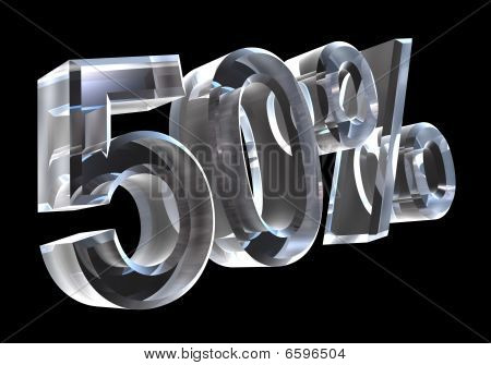 50 percent in glass (3D)