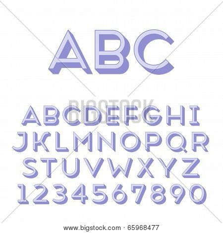 Handmade sans-serif font. Regular 3d-extruded type. Main glyph and 3d extruded part placed in separate layers of vector file. poster