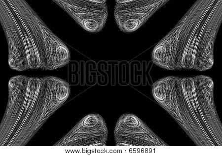 Abstract Bone Xray Background