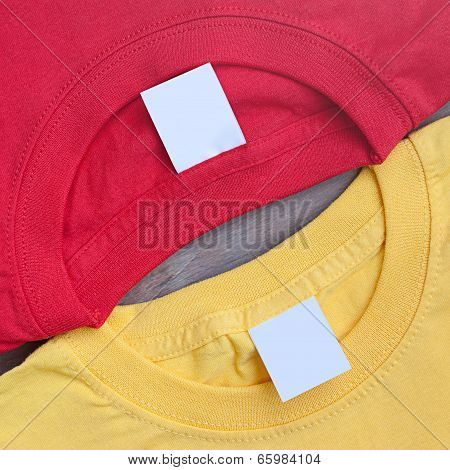 Two Bright T-shirts Creative Background