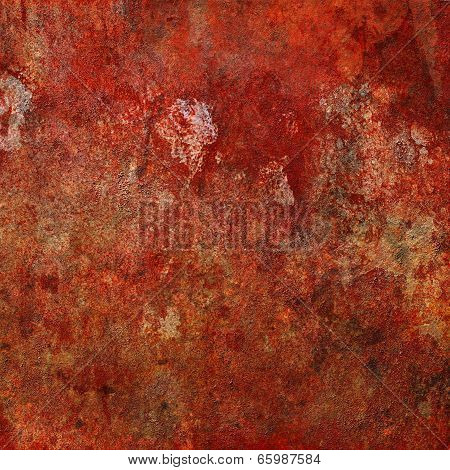 Highly detailed grungy rust metal texture background graphic image. poster