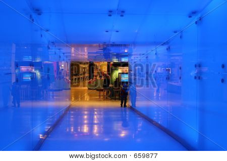Illuminated hallway
