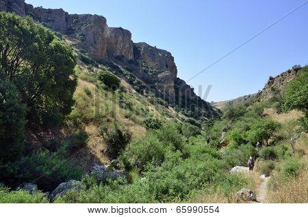 Wadi Amud In Galilee, Israel
