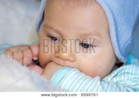 Baby boy teething