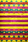Seamless Colorful Chevron Stripe Pattern - Background or Texture poster