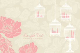 pattern for wedding with birdcage