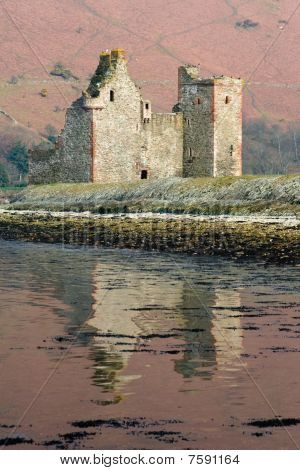 Lochranza castle reflection