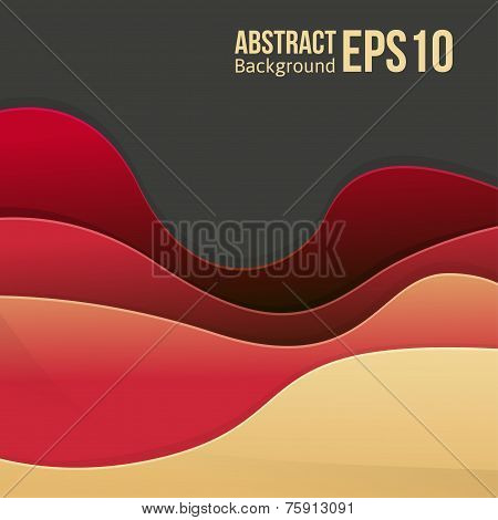 Abstract red light vector background. forms a smooth transition and waves. eps 10 poster