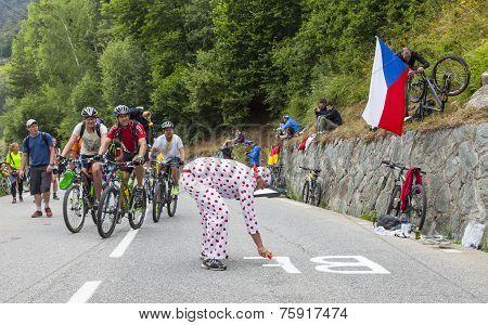 Fans On The Road Of Le Tour De France