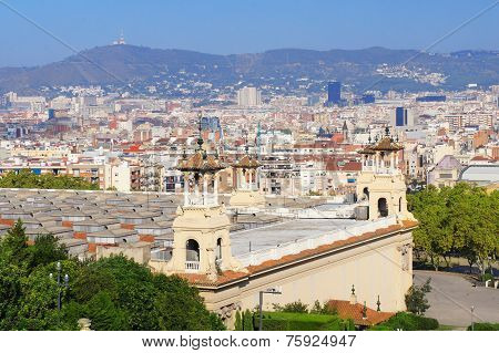 Barcelona skyline view, Spain