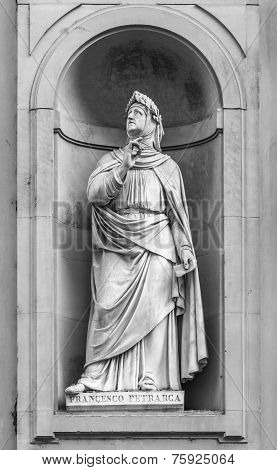 Statue Of Petrarch In Florence