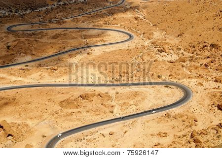 Winding mountain road from Al Mulalla to Aden. Yemen Sept.13 2009