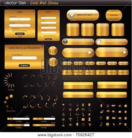 Gold Web Set Illustration