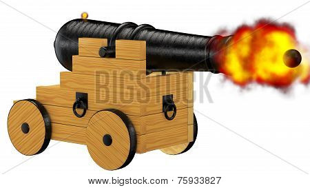 Pirate Cannon Firing