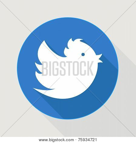 Flying Blue Twitter Bird
