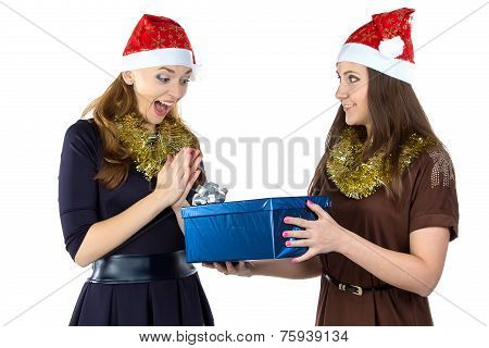 Photo of smiling women with the gift