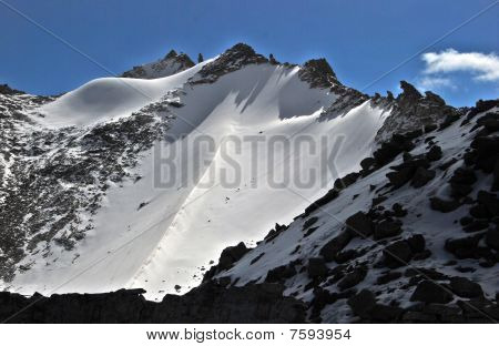 One of the Ice peak of Khardungla(Pass)at Leh, Ladakh, India, Khardungla is the highest motorable road of the world. poster