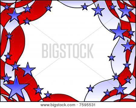 Stars and stripes frame